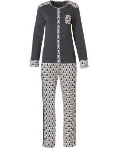 Pyjama lange mouw doorknoop Pastunette deluxe