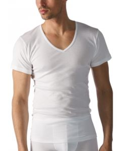 T-shirt v-hals Mey casual cotton