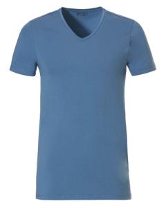 T-shirt V-hals Ten Cate 1952 blauw