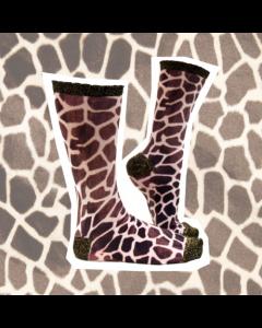Sokje Sock my feet giraffe
