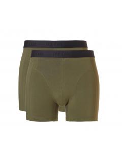 2 Onderbroeken shorts bamboo Ten Cate groen
