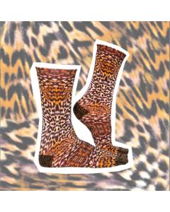Sokje Sock my feet leopard skin
