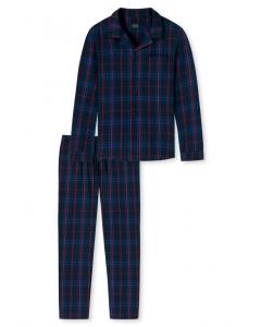 Pyjama doorknoop Schiesser flanel
