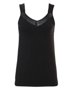 Hemdje met brede bandjes Ten Cate 1952 women lace zwart